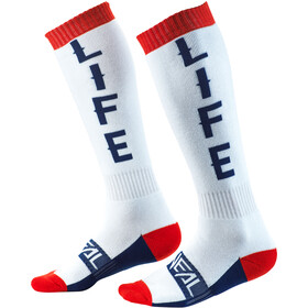 O'Neal Pro MX Socks moto life-white/red/blue